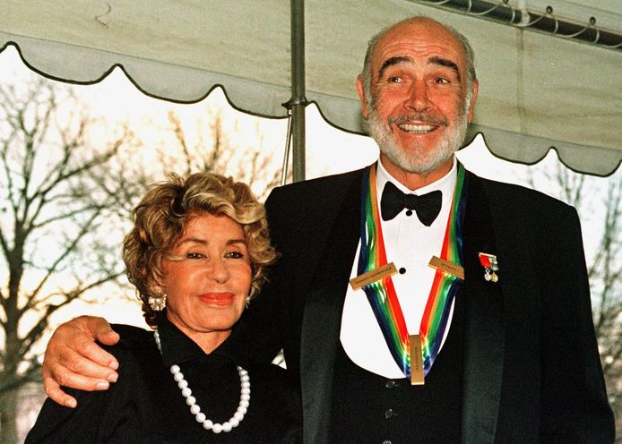Sean Connery et sa femme Micheline Roquebrune (1999)