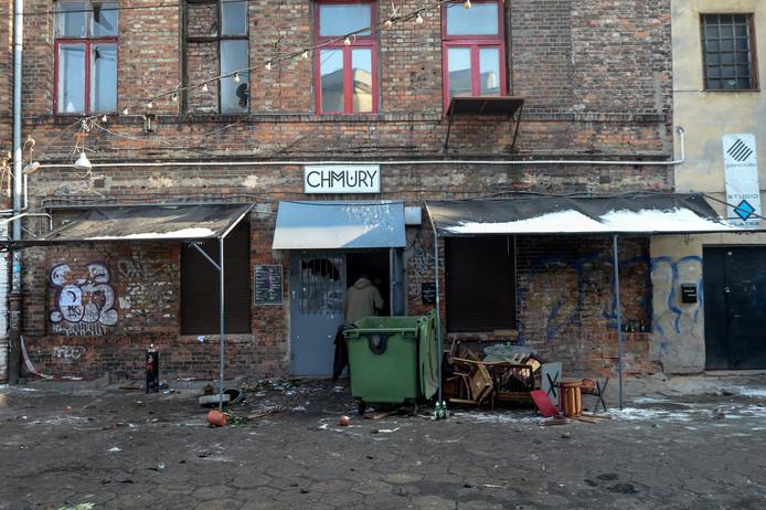 Het 'Chmury' café in Warschau.