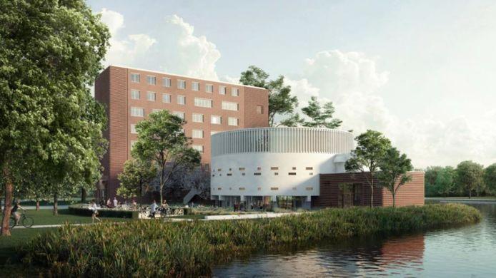 Het voorlopige ontwerp van de dependance van het Conservatorium in het Beatrixpark.