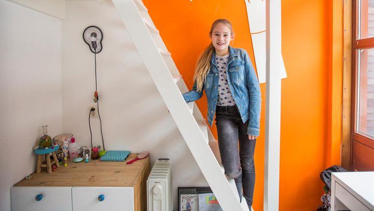 Keet Boskamp: De Amsterdamse mavo is nieuw en nog heel klein. Dat lijkt me best leuk, dat iedereen elkaar kent. Beeld Eva Plevier