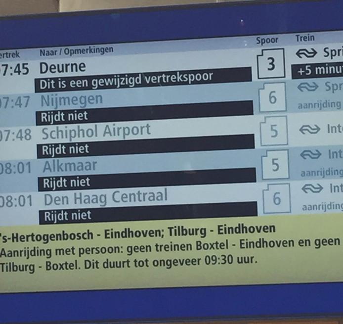 Treinstoringen station Eindhoven