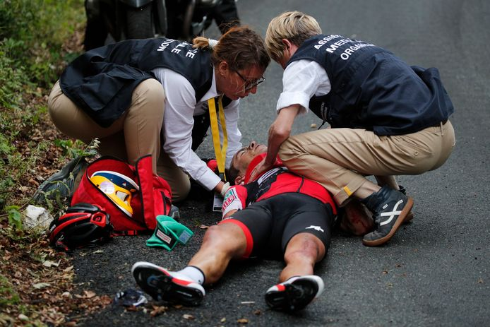Porte moest afgevoerd worden in een ambulance.