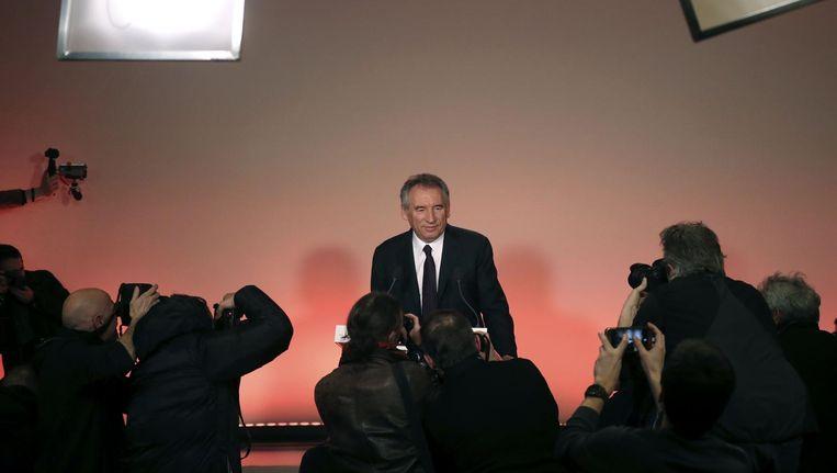 François Bayrou sluit zich aan bij Emmanuel Macron. Beeld afp