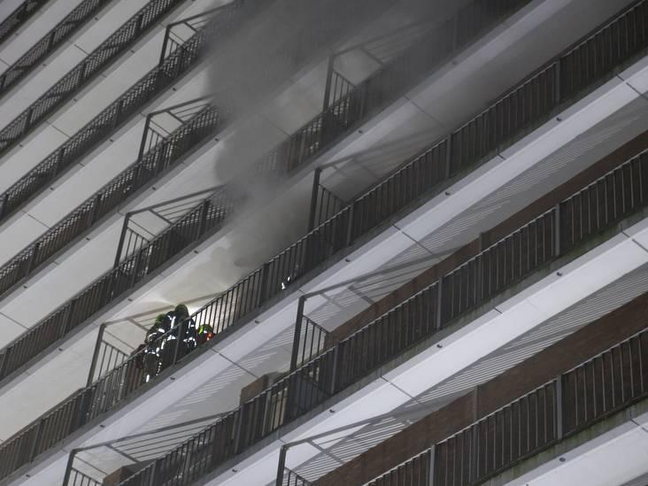 Brand in flat niet aangestoken