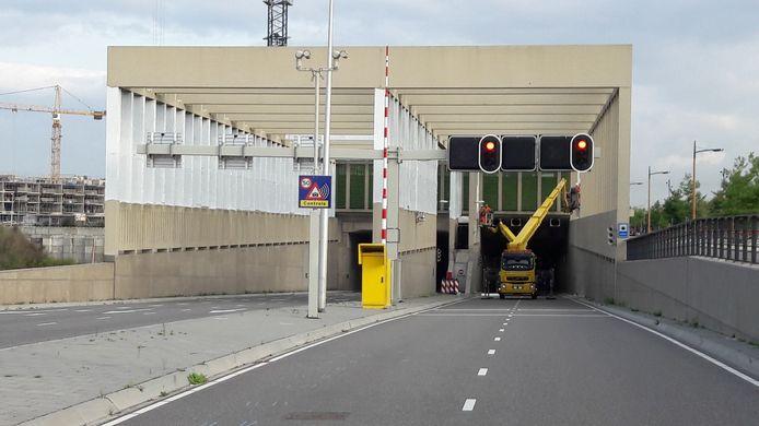 Stadsbaantunnel tijdens eerdere afsluiting.