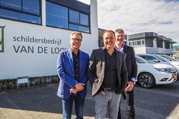 Han van de Looy (midden) met broer Neel (l) en opvolger Erwin Bovens (r)