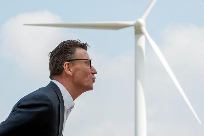 De nieuwe directeur Sjoerd Sieburgh Sjoerdsma van Windpark Zeewolde, dat het grootste windpark van Nederland wordt.