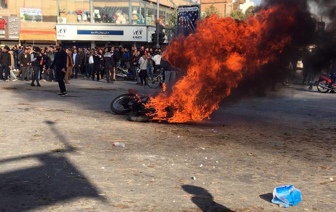 Manifestation à Ispahan, Iran (16 novembre 2019)