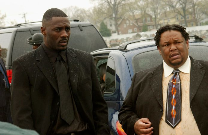 Idris Elba (links) in 'The Wire'