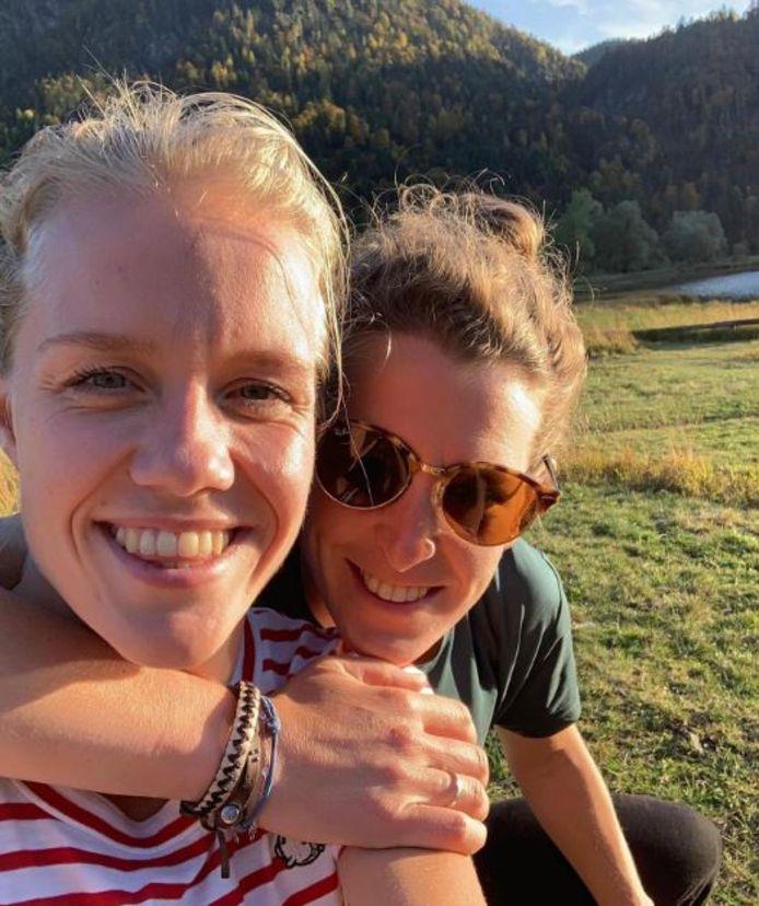 Ireen Wüst met haar verloofde