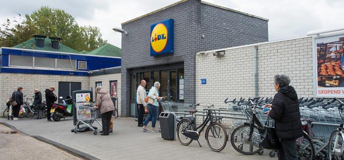 De huidige Lidl in Waalwijk.