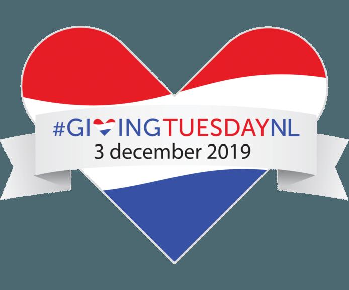 Het Nederlandse logo van Giving Tuesday.