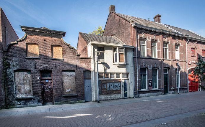 Van links naar rechts de Telegraafstraat 7, 5 en 4 in Tilburg.