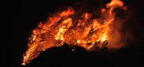 Borne verbrandt natte bomen, maar wel met moeite