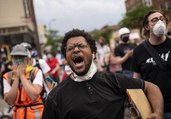 Demonstranten in Minneapolis, Minnesota. (06/06/2020)