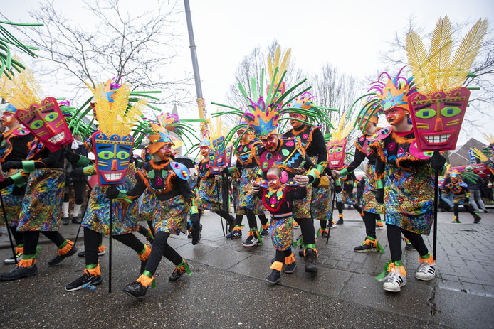 Sfeerfoto's van carnavals optocht door De Lutte