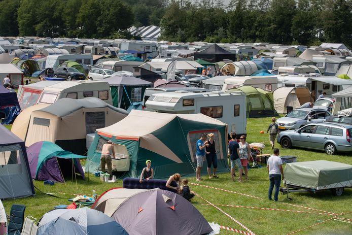 De camping van Opwekking.