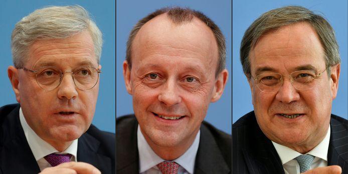 Norbert Röttgen, Friedrich Merz et Armin Laschet