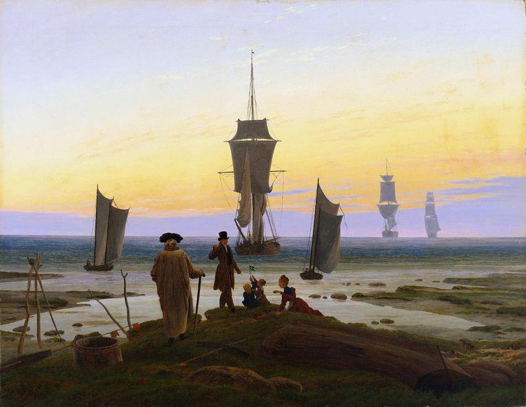 Caspar David Friedrich, Die Lebensstufen (ca. 1834). 'Dit doek ademt de passie voor het traject van het ouder worden.' Beeld Museum der bildenden Künste, Leipzig