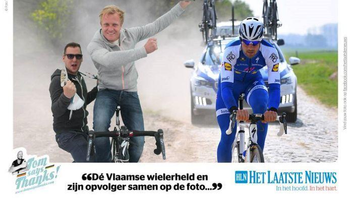 Björn Vleminckx op de foto met Tom Boonen.