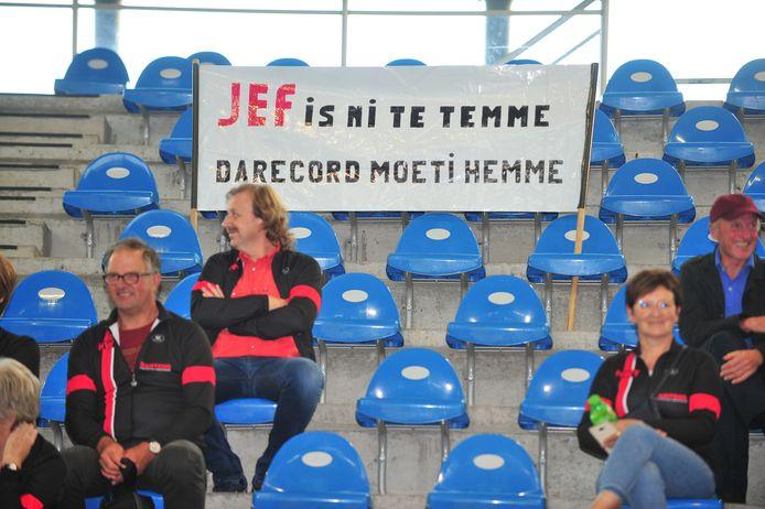 Jef Geerts werd aangemoedigd door heel wat supporters.