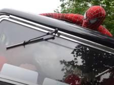 Spider-man en The Joker vechten om de 'Aardbeien van Jan en Birgitte'