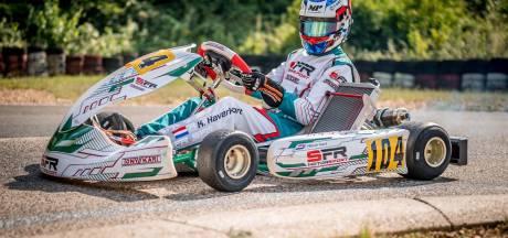 Kas Haverkort uit Heemserveen blijft gewoon winnen: na Spaanse Formule 4 ook Duitse kartrace