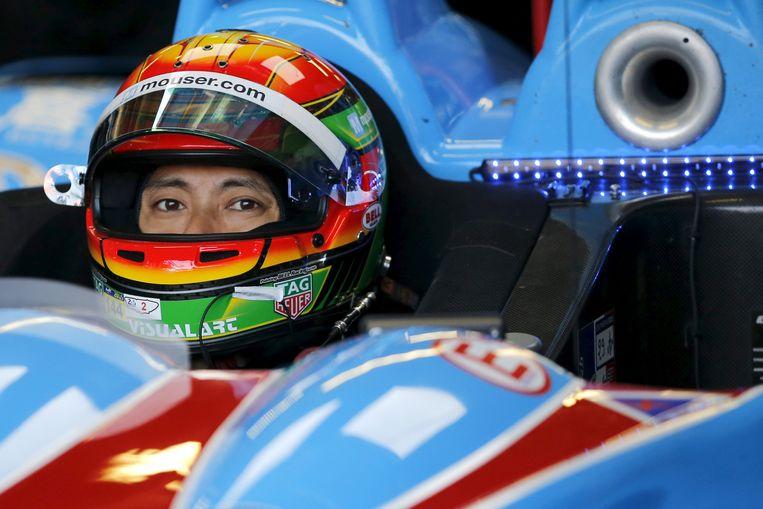 Ho-Pin Tung tijdens de race van Le Mans  Beeld null