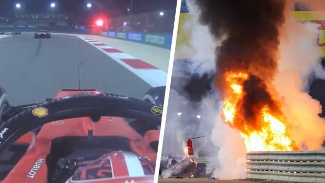 """""""Zeg me dat hij oké is. Alsjeblieft. Zeg het mij"""": F1-collega's van Grosjean beleven bange minuten wanneer ze vuurzee zien"""