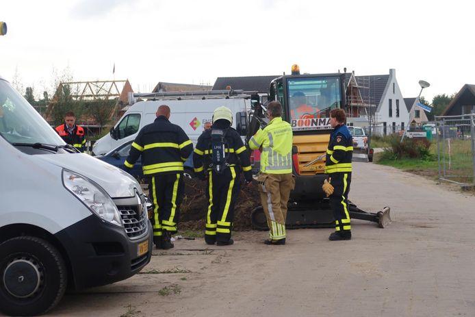 Gasleiding kapot in Bavel.