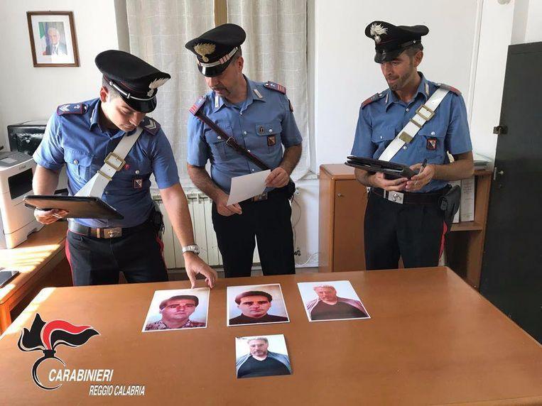 De Italiaanse politie bij verschillende foto's van 'Ndrangheta-baas Rocco Morabito in 2017.