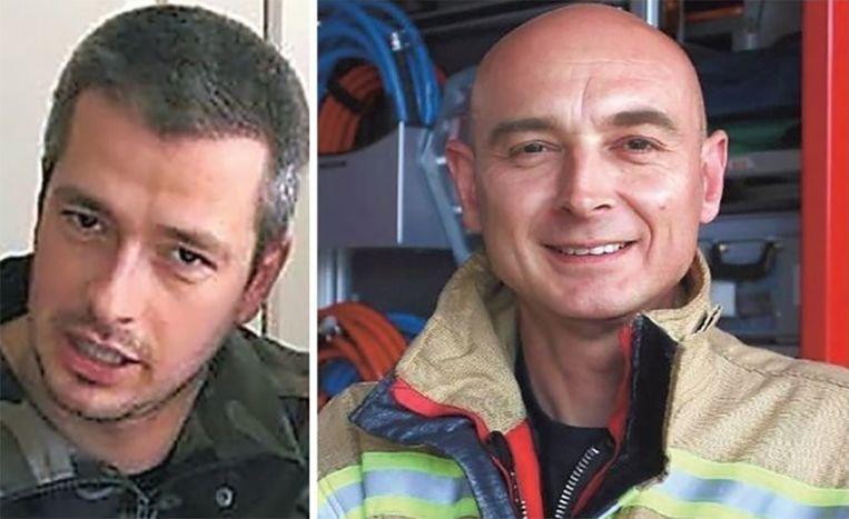 Chris Medo (42, rechts) en Benni Smulders (37), twee vrijwillige brandweermannen, lieten het leven.