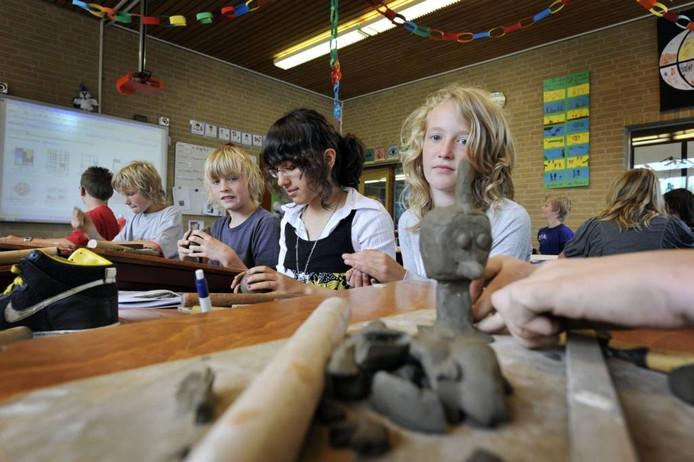 Leerlingen van Daltonschool De Maten in DenHam. Foto: Carlo ter Ellen
