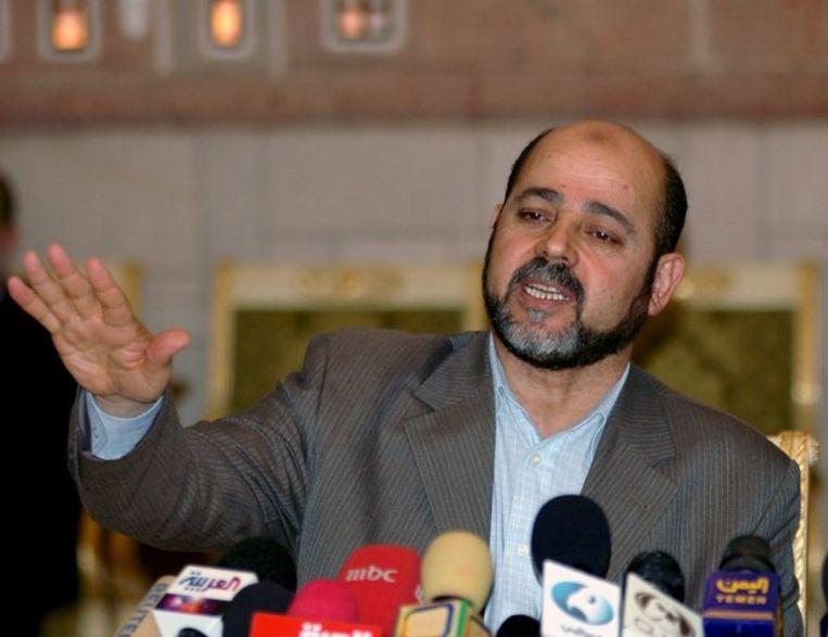 Volgens Abu Marzouk houdt Hamas vast aan zijn eerder genoemde eisen. Foto ANP/Yahya Arhab Beeld