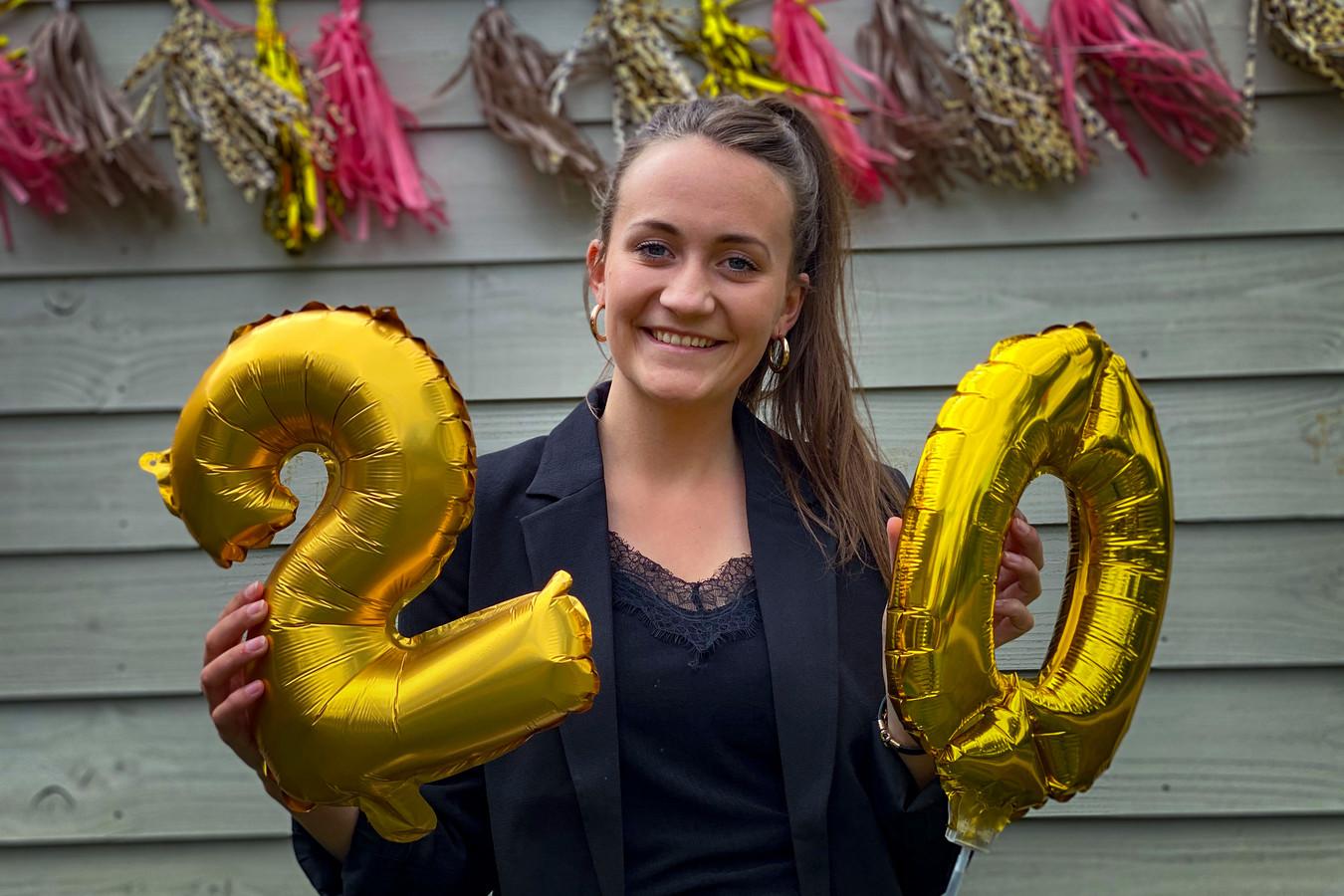 Geen groot feest voor Whitly Felix uit IJsselmuiden op haar 20ste verjaardag, ondanks de dag met mooie getallen.