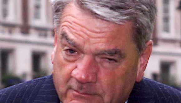 De controversiële historicus en auteur David Irving. Foto uit 2000.