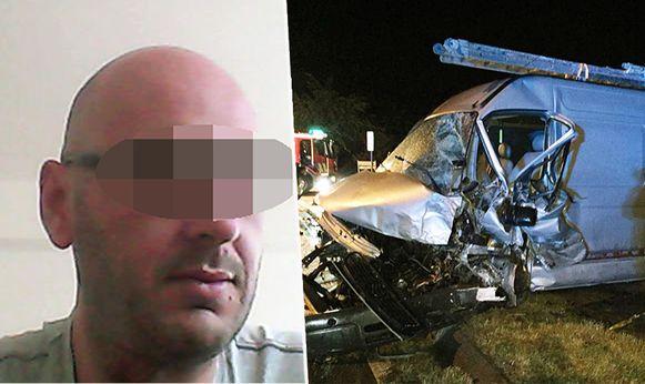 Vorig jaar reed Wim B. met zijn bestelwagen frontaal in op de auto van Laurent Vermeersch, die overleed.