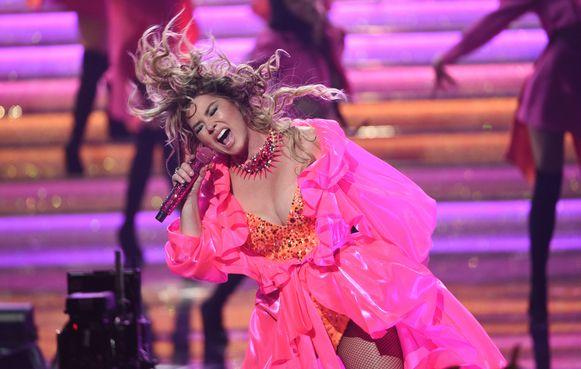 Shania Twain tijdens de AMA's.