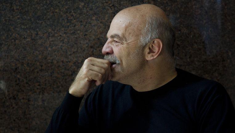 Martín Caparrós op een literatuurfestival in Guadalajara, eind 2014. Beeld AFP/Getty Images