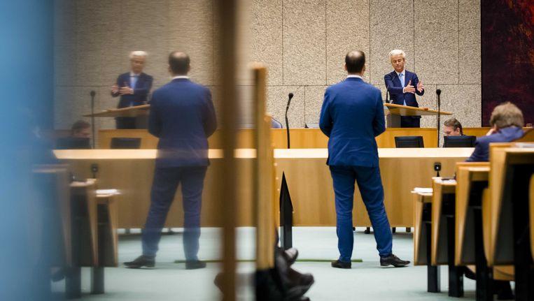 Lodewijk Asscher in debat met Geert Wilders Beeld anp