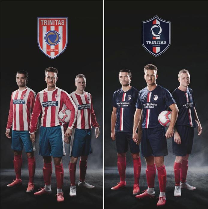 De leden van de drie Oisterwijkse clubs die opgaan in Trinitas Oisterwijk kunnen uit twee clubtenues met bijpassend logo kiezen.