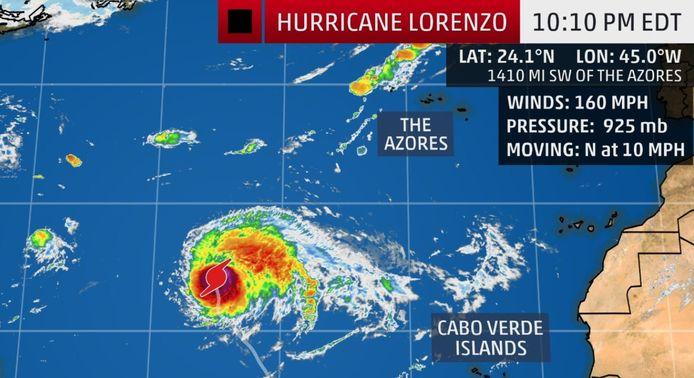Orkaan Lorenzo.