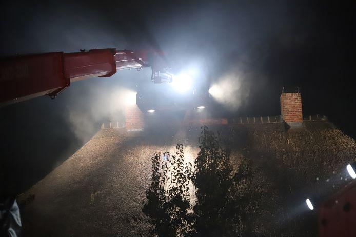 Door blikseminslag is er brand ontstaan in een woning aan de Oude Reekstraat in Beuningen.