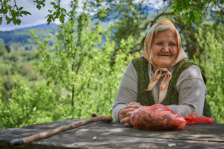 Radojka Djuric gaat graag even zitten voor een praatje.