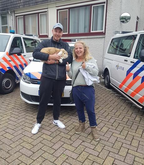Verdwaald konijn 'Officer Hopps' weer terug bij eigenaar