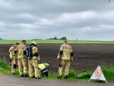 Gaslek in Albergen; brandweer ter plaatse