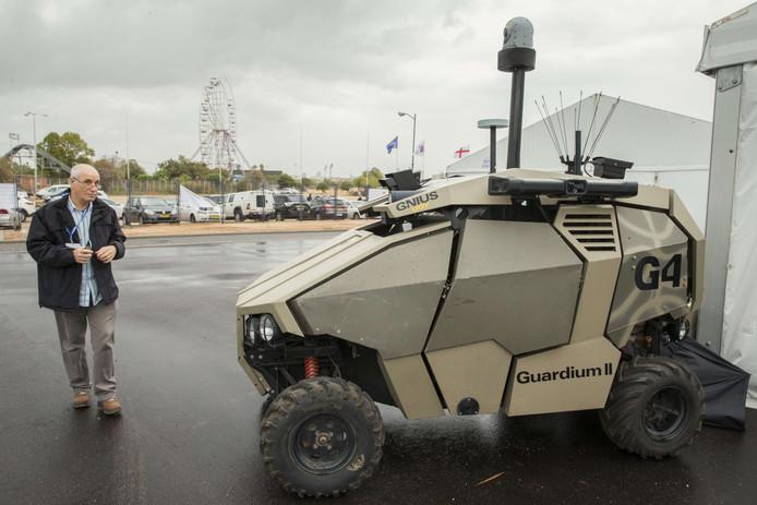 Guardium II, een onbemand verkenningsvoertuig.