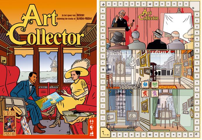 In het bordspel 'Art Collector' stap je in de voetsporen van Helene Kröller-Müller en maak je jacht op de beste kunstverzameling.