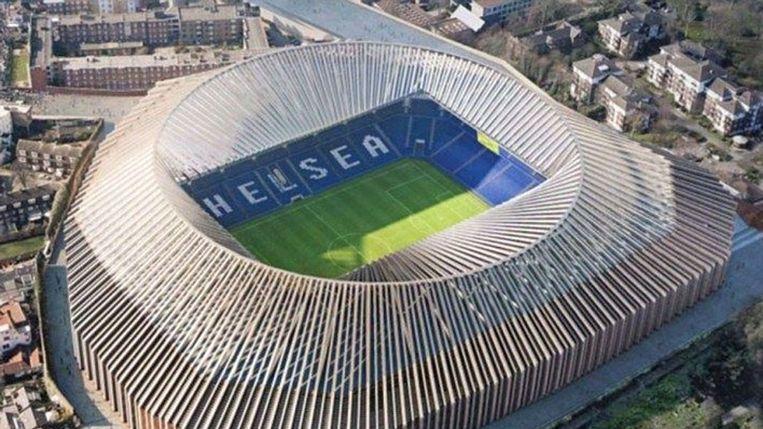 Zo zou Stamford Bridge er straks moeten uitzien vanuit de lucht.