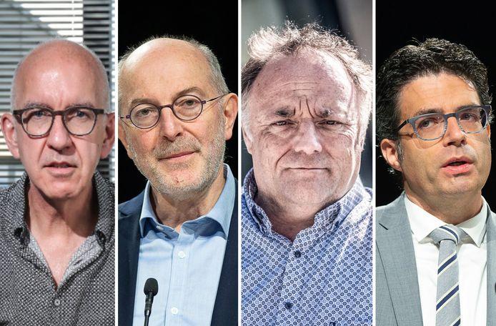 Geert Molenberghs, Pierre Van Damme, Marc Van Ranst en Steven Van Gucht.
